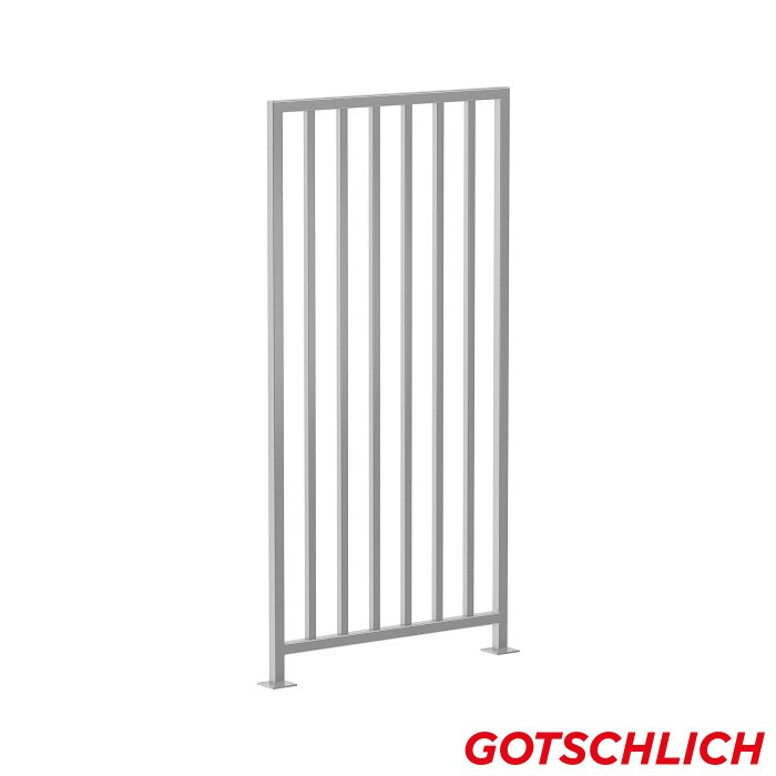 Geländer mannshoch, passend zu ECCO Drehkreuze